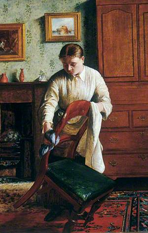 Housemaid Polishing a Chair
