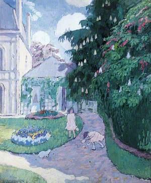 Garden at Caudebec, Normandy, France