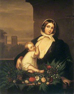 A Woman and Child