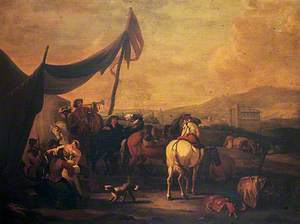 Figures at an Encampment