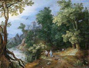 Landscape with Sportsmen and Dogs