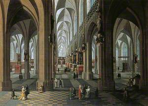 Interior of Antwerp Cathedral, Belgium