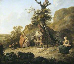 A Peasant Family around a Campfire
