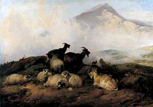 Landscape with Sheep and Goats