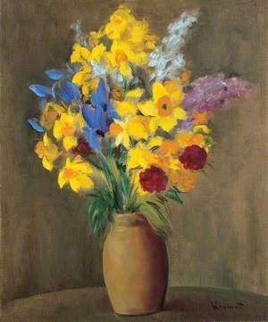Still Life of Spring Flowers in a Vase