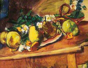 Pears and Marigolds
