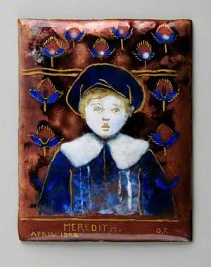 Enamel Plaque with 'Meredith'