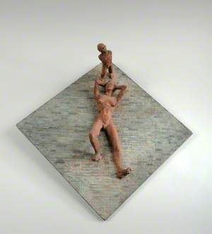 Maquette for a Wall Sculpture: Reclining Woman and Standing Child