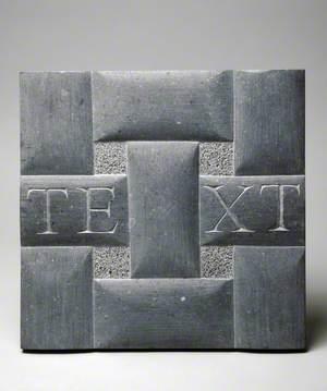 Maquette for 'Texta Texens'