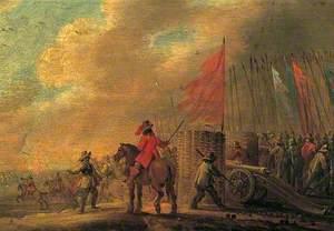 Battle Scene with Artillery