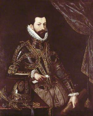 Alessandro Farnese (1545–1592), Duke of Parma and Piacenza (1586–1592), Governor of the Spanish Netherlands (1578–1592), in Armour