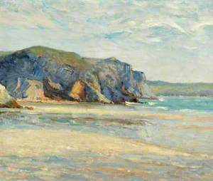 La plage à Morgat, Finistère
