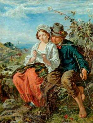 A Fisher-Boy and a Girl Reading