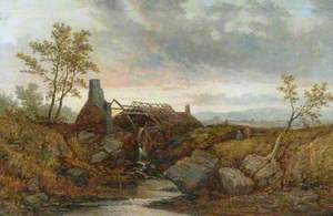 Scene of a Ruined Mill and a Water Wheel