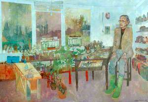 The Painter Richard Eurich in His Studio