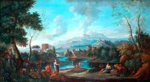 Classical Landscape with a Woman Standing