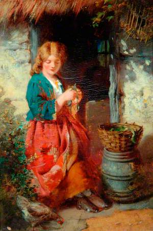 Woman at a Cottage Door