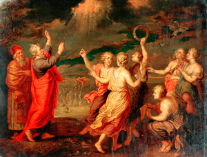 The Israelites Rejoicing after Crossing the Red Sea