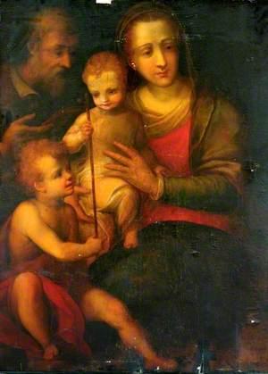 The Holy Family and Saint John