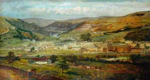 Hebden Bridge from Palace House, Fairfield