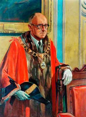 Mr Wood in Mayoral Robes