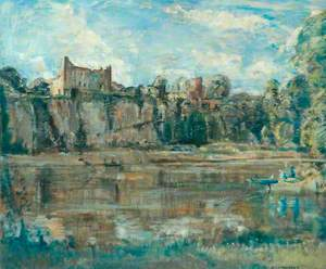 River Scene with Castle