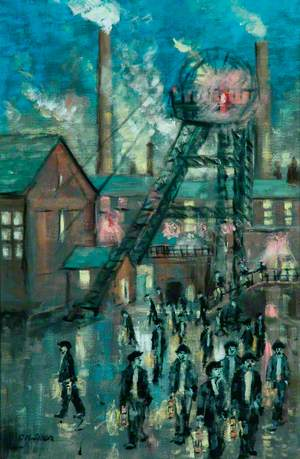 Miners Leaving the Colliery