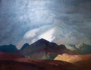 Scar Fell in Storm, Viewed from Burnmoor
