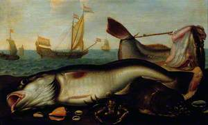 Fish Still Life with Seascape