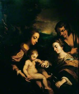 The Mystic Marriage of Saint Catherine with Saint Sebastian