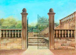 Entrance to Terrace, Woolley Hall*