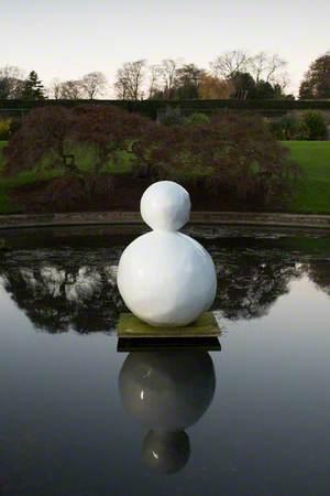 Snowman, Two Balls Twinkle White