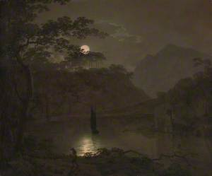 A Lake by Moonlight