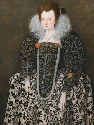 Portrait of a Woman, Traditionally Identified as Mary Clopton, born Waldegrave, of Kentwell Hall, Suffolk