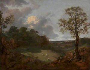 Wooded Landscape with a Cottage and Shepherd