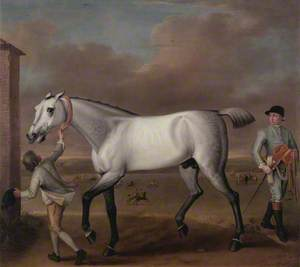 The Duke of Hamilton's Grey Racehorse 'Victorious' at Newmarket