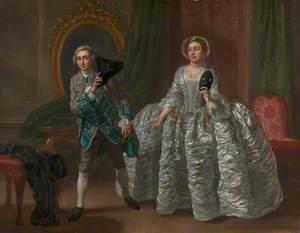 David Garrick and Mrs Pritchard in Benjamin Hoadley's 'The Suspicious Husband'