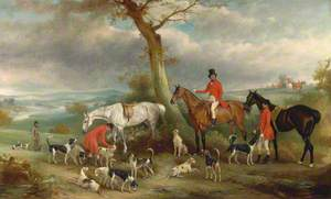 Thomas Wilkinson, MFH, with the Hurworth Foxhounds