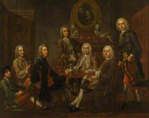 Portrait of a Group of Gentleman, with the Artist