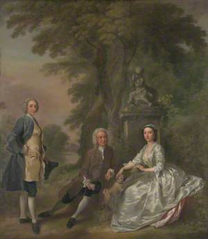 Jonathan Tyers, with His Daughter Elizabeth, and Her Husband John Wood