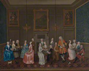 Tea Party at Lord Harrington's House, St James's