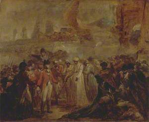 The Surrender of the Two Sons of Tipu Sahib, Sultan of Mysore, to Sir David Baird