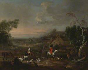 The Reverend Jemmet Browne at a Meet of Foxhounds