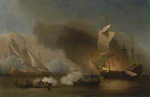 An Action between English Ships and Barbary Corsairs