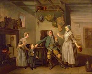 David Garrick and Mary Bradshaw in David Garrick's 'The Farmer's Return'