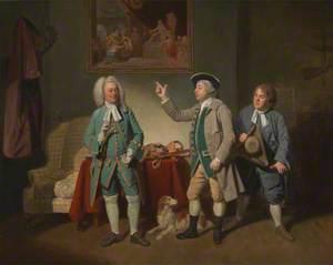 Edward Shuter, John Beard, and John Dunstall in Isaac Bickerton's 'Love in a Village'