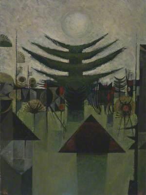 Abstract Landscape (Dark Fir Shoreham II  Morning)
