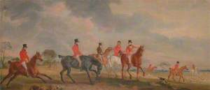 The Quorn Hunt: A Sketch of the Artist and His Friends Moving Off