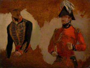 Studies of Royal Horse Artillery Uniform, and of an ADC to the Commander in Chief