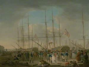 Hussars Embarking at Deptford